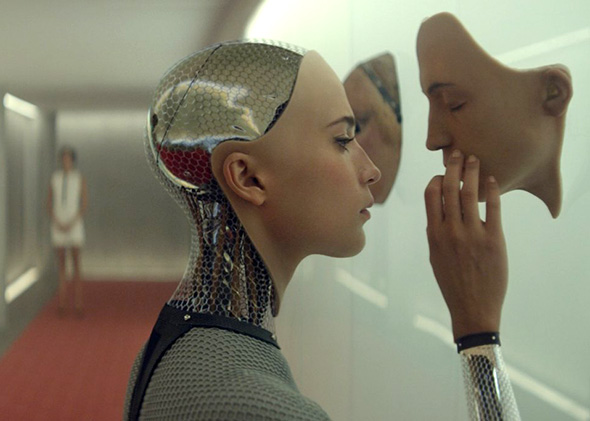 Alicia Vikander in Ex Machina (2015).